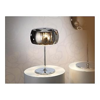 Schuller Argos Smoked Oval Glass Dome Mini Table Lamp