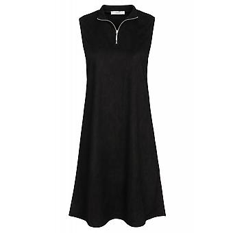ADPT. Energy dress dress women's MIDI dress Black Suede look