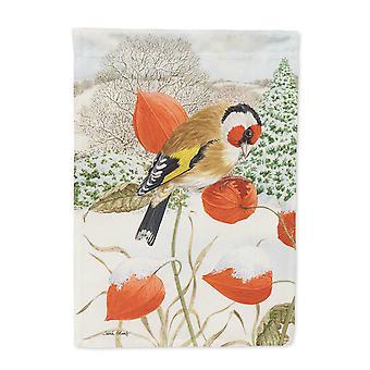 Carolines Schätze ASA2055CHF Europäische Goldfinch Flagge Leinwandgröße Haus
