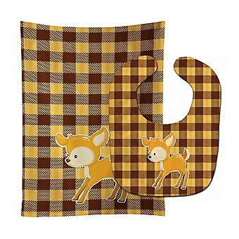 Carolines Treasures  BB9170STBU Deer #3 Baby Bib & Burp Cloth