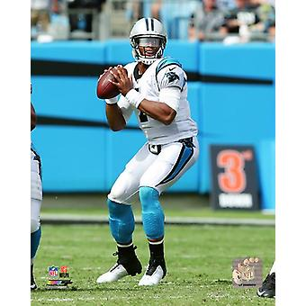 Cam Newton 2017 Action Photo Print