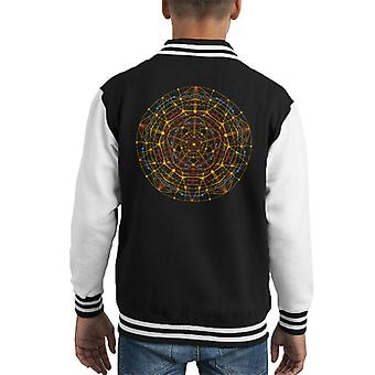 Neural Mandala Kid's Varsity Jacket