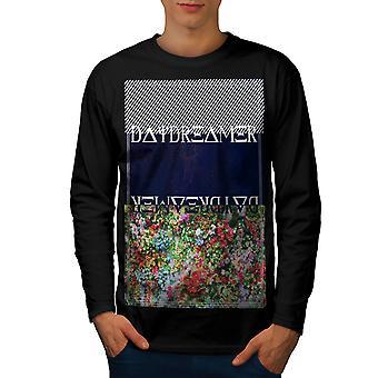 Daydreamer uomini BlackLong Sleeve t-shirt | Wellcoda