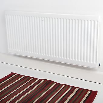 Round Top Convector Radiator - Single Panel - Type 11 - White - H400 x W700mm
