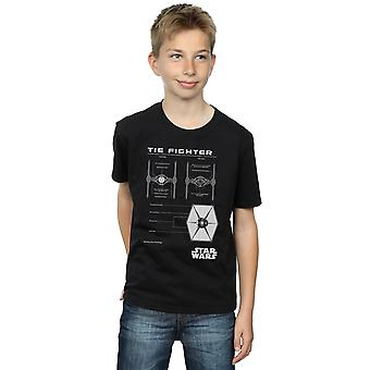 Star Wars Boys TIE Fighter Blueprint T-Shirt