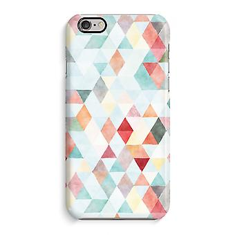 iPhone 6 / 6S Full Print Case - Coloured triangles pastel