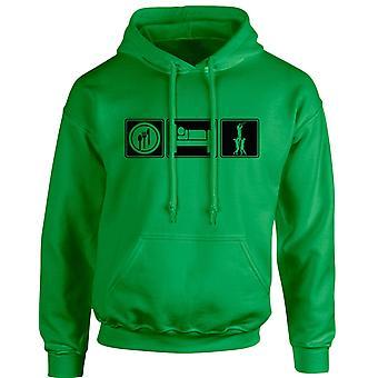 Äta sova Rugby Unisex Hoodie 10 färger (S-5XL) genom swagwear