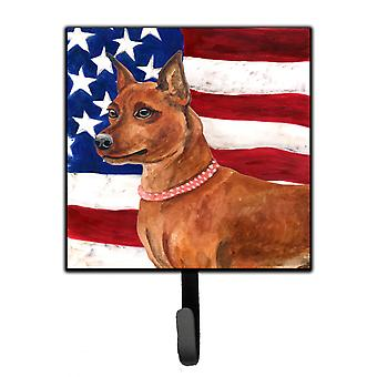 Carolines Treasures  BB9656SH4 Miniature Pinscher Patriotic Leash or Key Holder