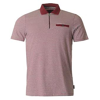 Ted Baker Whippet Zip hals stribet Polo