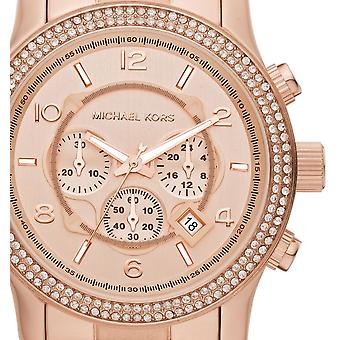 Michael Kors Ladies Watch Rose Gold Runway Double Glitz Exclusive MK5576