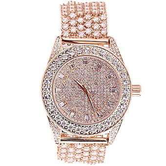 High Quality FULL ICED OUT CZ Uhr - rose gold