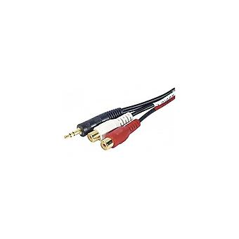 EXC Stereo Audio Adapter 3-5mm jack to 2 x RCA female- 0-3 m