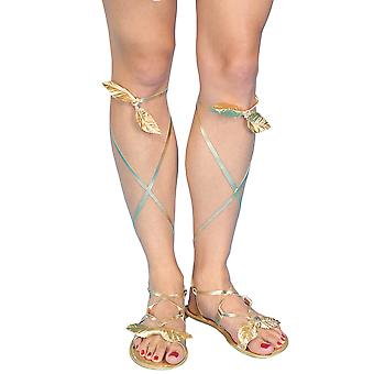 Egyptian Cleopatra Greek Roman Goddess Golden Womens Costume Sandals