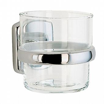 Cabin Halter mit Glas Tumbler - Polished Chrome (CK343)
