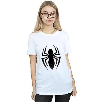 Marvel Women's Spider-Man Ultimate Spider Logo Boyfriend Fit T-Shirt
