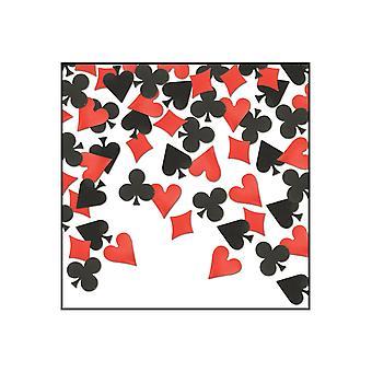 Kort dragt tabel konfetti