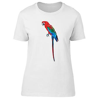 Red Exotic Macaw Tee Women's -Image by Shutterstock