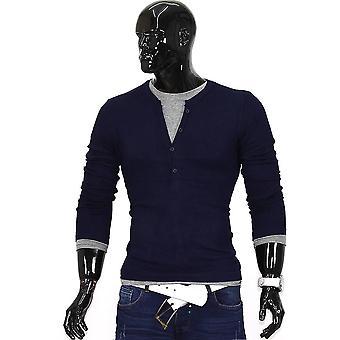 Manica lunga manica lunga camicia Figurbetont maglione uomo V collo clubwear in cashmere