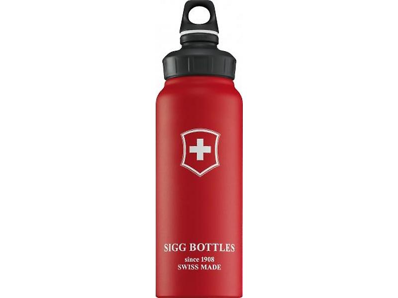 Sigg Wide Mouth Red Touch Swiss Cross (1.0L)