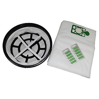 "12"" Cloth Filter + 10 x Vacuum Bags + Fresheners Fits DAVID"