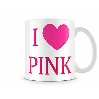 Jeg elsker Pink 01 trykte krus