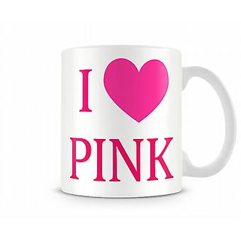 J'aime 01 rose imprimé tasse