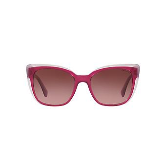 Ralph By Ralph Lauren Two Tone Peaked Square Sunglasses In Fuchsia On Pink