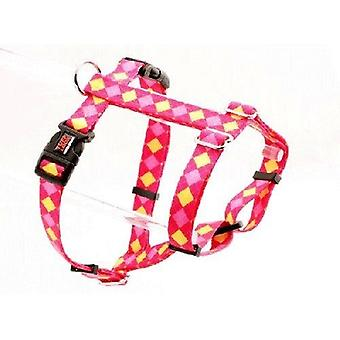 Tuff Lock Harness Ex Large Argyle Pink