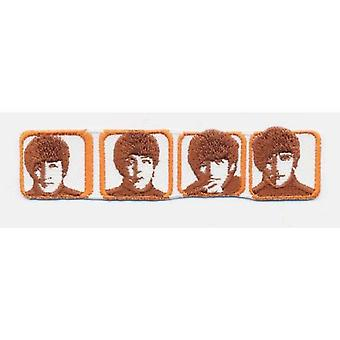The Beatles Patch Heads in Boxes Portraits Band Logo new Official Woven Iron on
