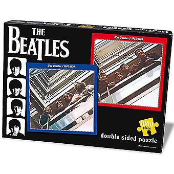 Beatles Red / Blue 1000 Piece Double Sided Jigsaw Puzzle 590Mm X 590Mm
