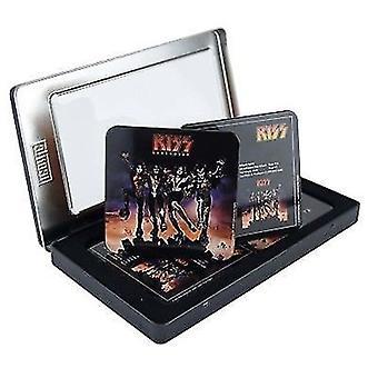 KISS Destroyer Set 6 Metall / Kork Getränke Untersetzer In Dose
