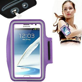 Sport armband för Samsung Galaxy touch 2 N7100 / touch 3 N9000 lila / violett