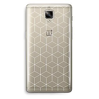 OnePlus 3 Transparent Case (Soft) - Cubes black and white