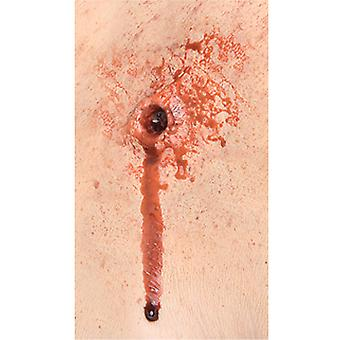 Bullet Entry Exit Injury Wound Maquillage Effect Mens Costume Latex Prosthetic