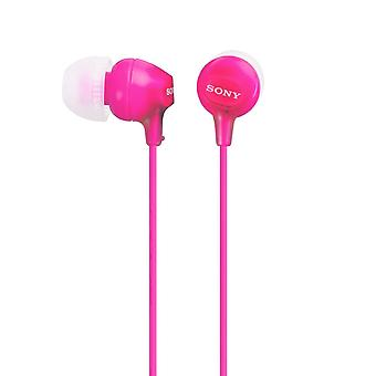 Sony MDR-EX15LPP Pink Portable Earbuds Fashion Colour Earphone/Headphone