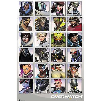 Overwatch Poster Character Portraits