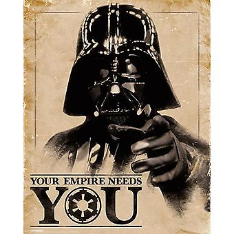 Star Wars poster Darth Vader your empire needs you small-format