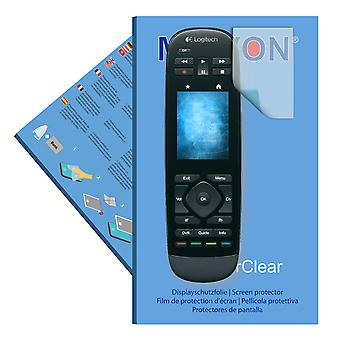 Logitech Harmony Touch screen protector- Mikvon films SuperClear (intentionally smaller than the display due to its curved surface)