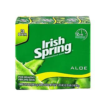 Irish Spring Deodorant Bath Bar Aloe, 3.75 oz, 3 Count
