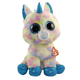 TY Beanie Boo Glitter Blitz grand oeil de Licorne rose 42 cm