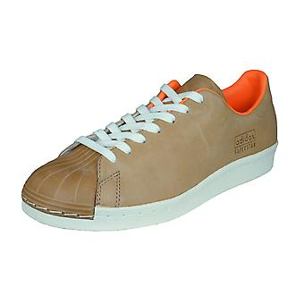 adidas Originals Superstar 80s Clean Mens Leather Trainers / Shoes - Brown