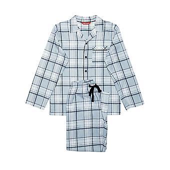 Minijammies 6300 junge Oliver Grey Check Baumwolle Pyjama Pyjama-Set