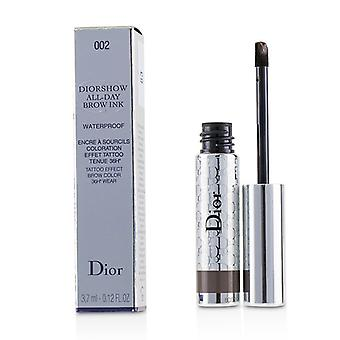 Christian Dior Diorshow All Day Waterproof Brow Ink - # 002 Dark - 3.7ml/0.12oz