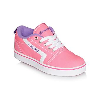 Heelys Pink-White-Lilac GR8 Pro Girls One Wheel Shoe
