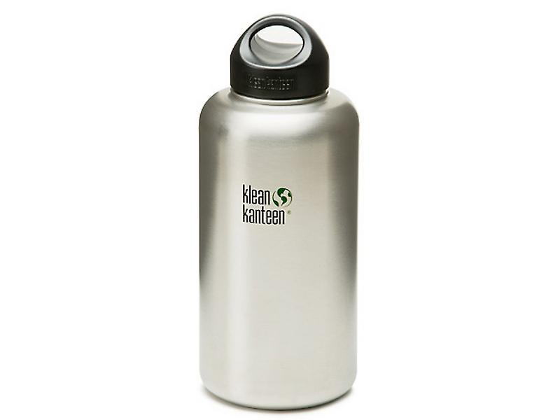 Klean Kanteen Wide Mouth 1900ml Bottle with Stainless Loop Cap (Brush Stainless)