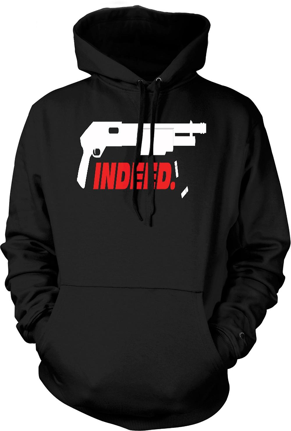 Mens Hoodie - Shotgun Indeed - Anarchy - Funny