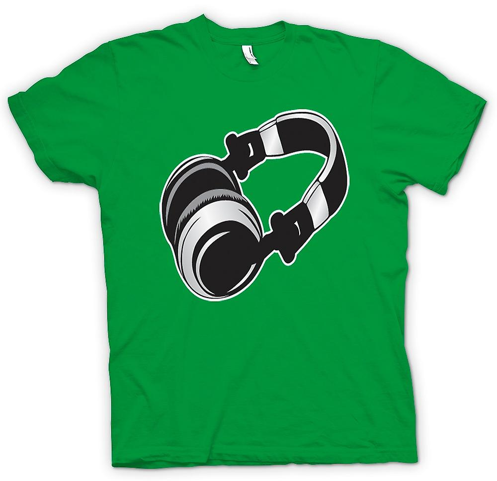 Mens T-shirt - DJ Headphones Old School