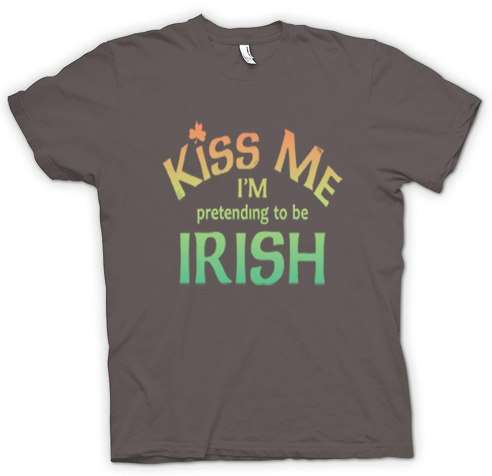 Womens T-shirt - Kiss me I'm pretending to be Irish