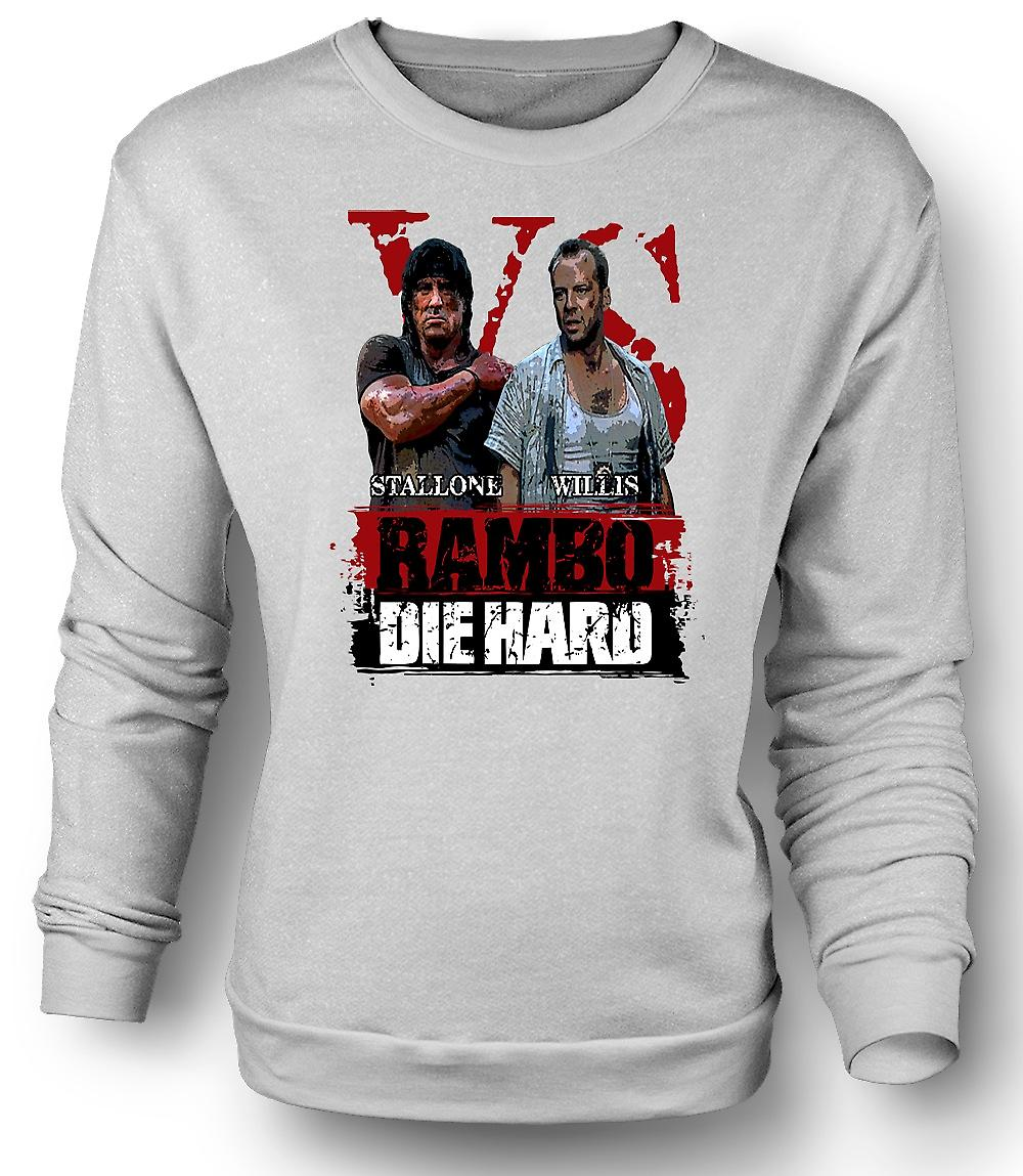 Mens Sweatshirt Rambo V Die Hard - Action Movie - Stallone - Willis