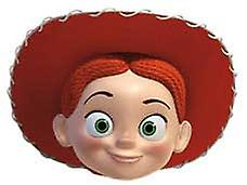 Jessie Card Face Mask (Toy Story)